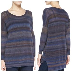Autumn Cashmere Mesh Space-Dye Pullover Sweater S